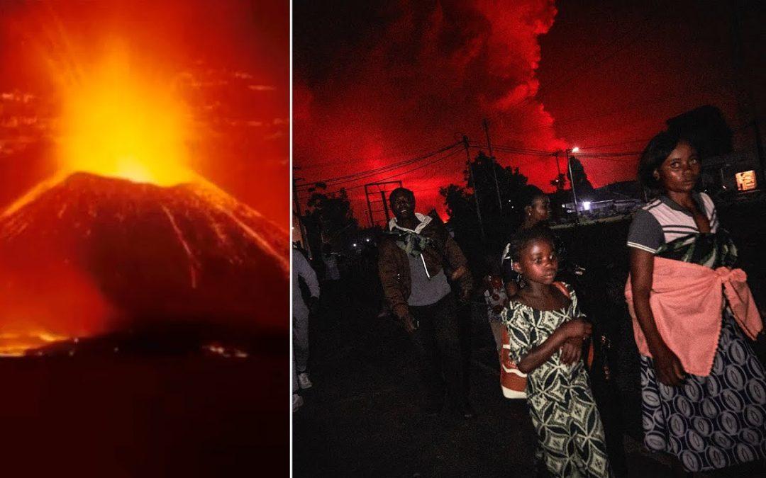 La erupción volcánica y el caos resultante matan al menos a 15 personas en el Congo